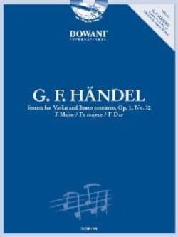 Sonate Op.1 N°12 En Fa Maj. HAENDEL Partition Violon - laflutedepan