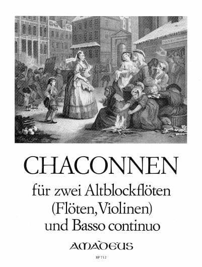 Chaconnen -2 Altblockflöten und Bc - Partition - laflutedepan.com