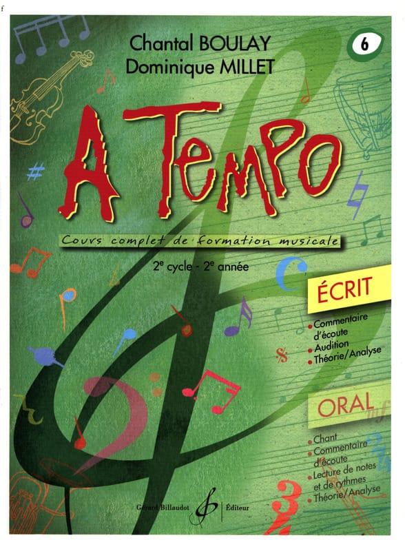 A Tempo Volume 6 - Ecrit - BOULAY - MILLET - laflutedepan.com
