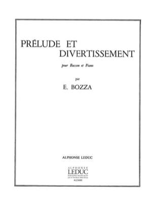 Prélude et Divertissement Eugène Bozza Partition Basson - laflutedepan