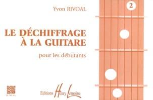 Le Déchiffrage à la Guitare Volume 2 Yvon Rivoal laflutedepan