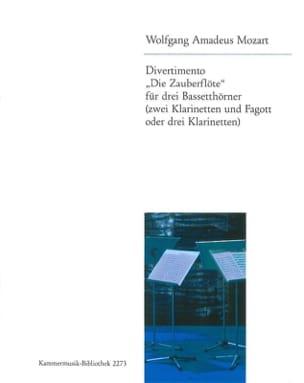 Divertimento Die Zauberflöte -3 Bassetthörner 2 Klar. Fag. / 3 Klar. laflutedepan