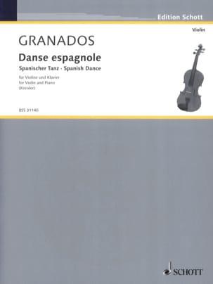 Danse espagnole Enrique GRANADOS Partition Violon - laflutedepan