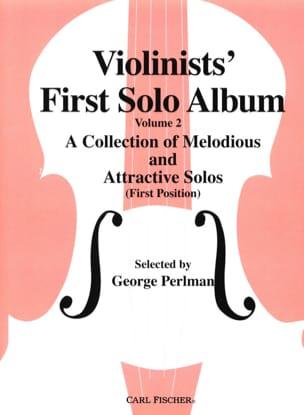 Violonists' first solo album, Volume 2 George Perlman laflutedepan