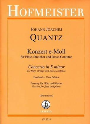 Concerto En Mi Min. - Qv 5:113 - QUANTZ - Partition - laflutedepan.com
