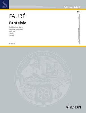 Fantaisie Opus 79 FAURÉ Partition Flûte traversière - laflutedepan