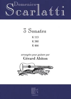 3 Sonates - K.113 / 380 / 466 SCARLATTI Partition laflutedepan