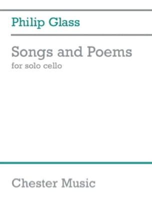 Songs and Poems - Violoncelle seul - GLASS - laflutedepan.com