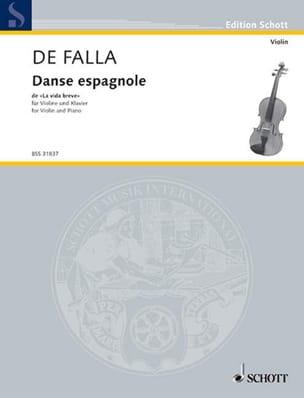Danse espagnole de La vida breve DE FALLA Partition laflutedepan