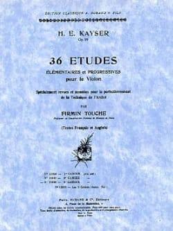 36 Etudes op. 20 - Volume 3 Touche Heinrich Ernst Kayser laflutedepan