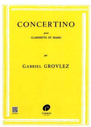 Concertino -Clarinette Gabriel Grovlez Partition laflutedepan
