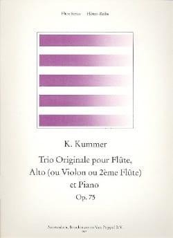 Gaspard Kummer - Original trio op. 75 - Partition - di-arezzo.com