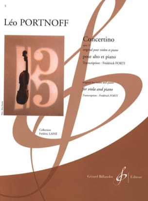 Concertino, opus 13 Leo Portnoff Partition Alto - laflutedepan