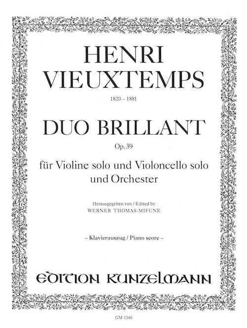 Duo brillant op. 39 -Violine Cello Klavier - laflutedepan.com