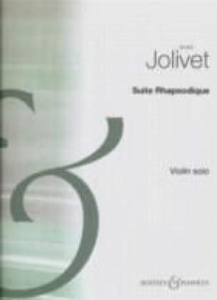 Suite Rhapsodique - André Jolivet - Partition - laflutedepan.com