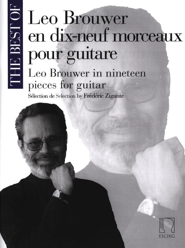 Leo Brouwer en 19 Morceaux pour Guitare - BROUWER - laflutedepan.com