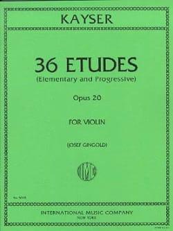 36 Etudes - Opus 20 Heinrich Ernst Kayser Partition laflutedepan