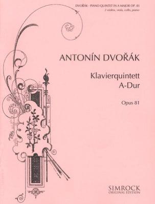 Klavierquintett A-Dur op. 81 -Stimmen DVORAK Partition laflutedepan