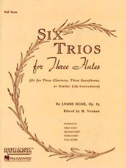 6 Trios Pour 3 Flutes Op. 83 James Hook Partition laflutedepan