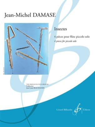 Insectes Jean-Michel Damase Partition Flûte traversière - laflutedepan