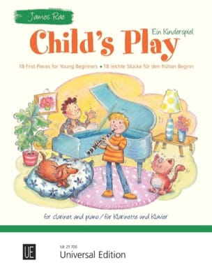 Child's Play - Clarinette et piano - James Rae - laflutedepan.com