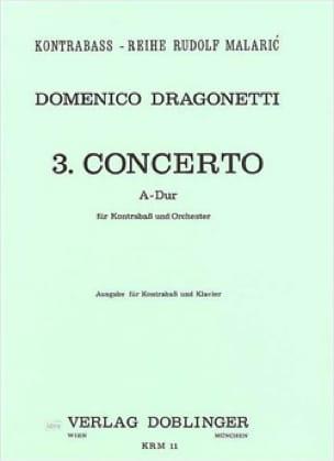 Concerto n° 3 A-Dur - Domenico Dragonetti - laflutedepan.com