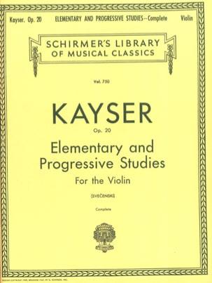 36 Etudes op. 20 Svecenski Heinrich Ernst Kayser laflutedepan