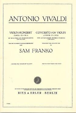 Concerto in G minor op. 4 n° 6 VIVALDI Partition Violon - laflutedepan