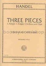 3 Pieces - transcr. clarinet HAENDEL Partition laflutedepan