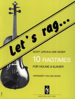 Let's Rag - 10 Ragtimes - Violin Joplin Scott / Heger Uwe laflutedepan