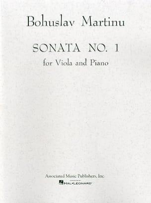 Sonata n° 1 - Viola MARTINU Partition Alto - laflutedepan