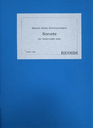 Sonate - Cello solo Bernd Alois Zimmermann Partition laflutedepan