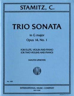 Trio sonate G major op. 14 n° 1-Flute violin piano or 2 vlns piano laflutedepan