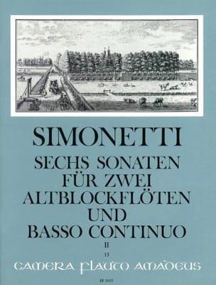 6 Sonaten op. 2 Bd. 2 : Nr. 4-6 -2 Altblockflöten Bc laflutedepan