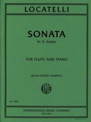 Sonata in G major - Flute piano LOCATELLI Partition laflutedepan