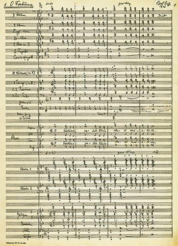 Carmina Burana - ORFF - Partition - Grand format - laflutedepan.com