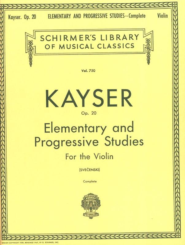 36 Etudes op. 20 Svecenski - Heinrich Ernst Kayser - laflutedepan.com
