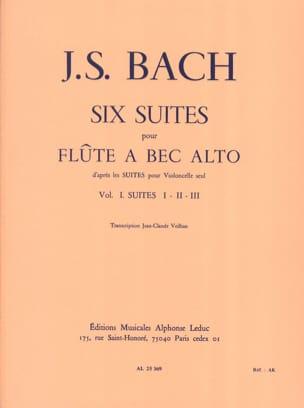 6 Suites - Volume 1 - Flûte à bec alto BACH Partition laflutedepan