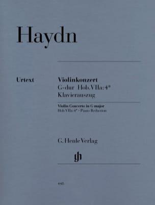 Concerto pour violon en Sol majeur HAYDN Partition laflutedepan