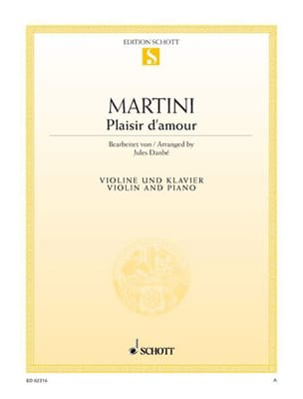 Plaisir d'amour Jean Martini Partition Violon - laflutedepan
