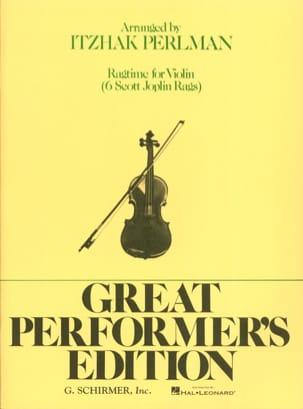 Ragtime for Violin Joplin Scott / Perlman Itzhak laflutedepan