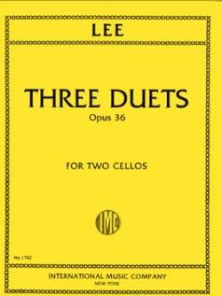 3 Duets op. 36 Sebastian Lee Partition Violoncelle - laflutedepan
