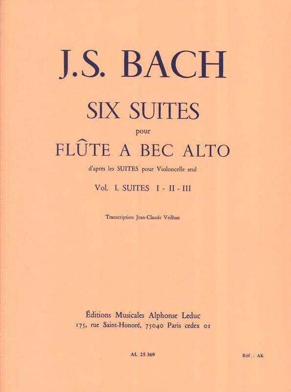 6 Suites - Volume 1 - Flûte à bec alto - BACH - laflutedepan.com