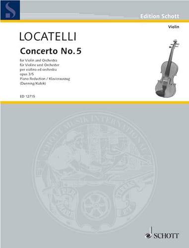 Concerto Violon op. 3 n° 5 en do majeur - LOCATELLI - laflutedepan.com