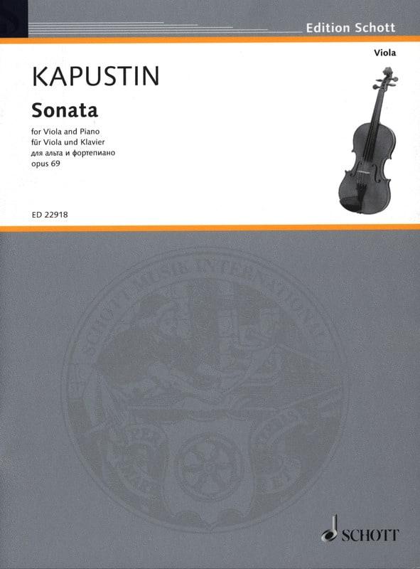 Sonate - Alto et Piano - Nikolai Kapustin - laflutedepan.com