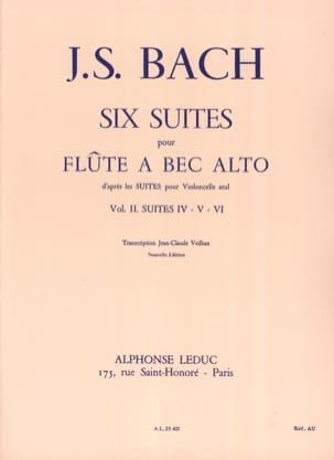 6 Suites - Volume 2 - flûte à bec alto BACH Partition laflutedepan