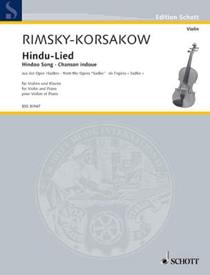 Hindu-Lied : Chanson hindoue Nikolai Rimsky-Korsakov laflutedepan