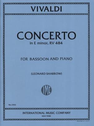 Concerto F. 8 n° 6 RV 484 in E minor VIVALDI Partition laflutedepan