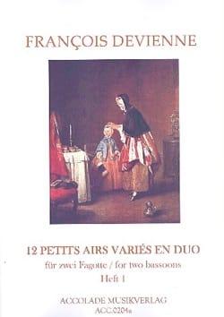 12 Petits Airs Variés en Duo Vol. 1 DEVIENNE Partition laflutedepan
