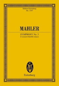 Symphonie n° 3 - Conducteur MAHLER Partition laflutedepan